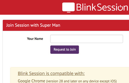 Blink Session - Join Session With